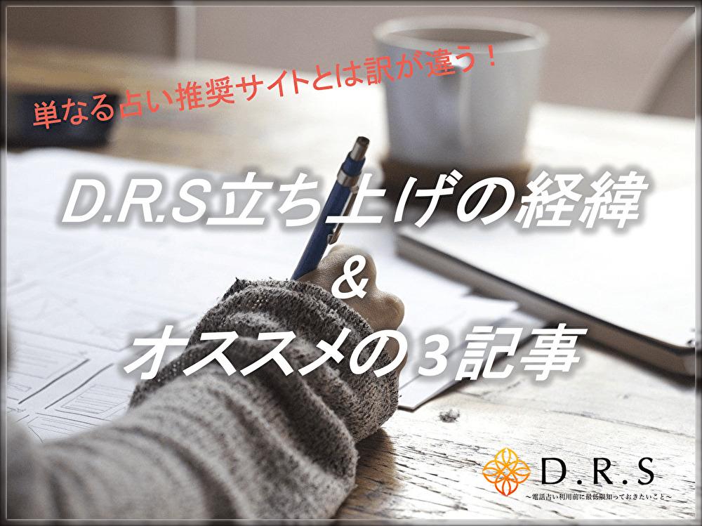 ようこそD.R.Sへ!サイト立ち上げの経緯&オススメ3記事